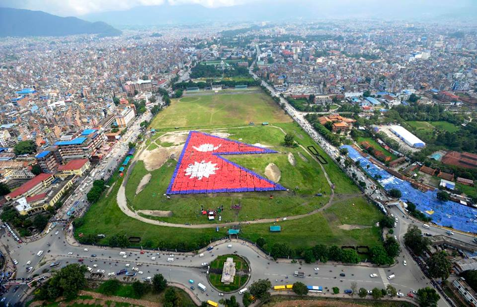 And The Largest Human Made Flag of the World; Nepal with 35,000 People