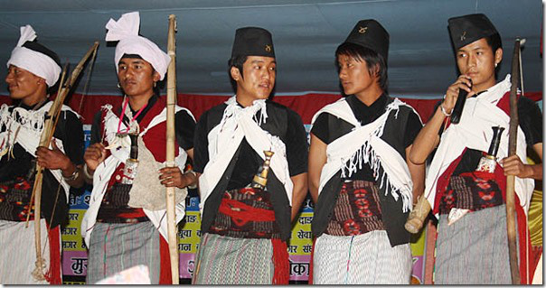 Magars in their traditional dress.