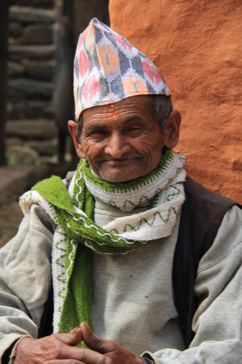An old brahmin man in typical dress.An old brahmin man in typical dress.