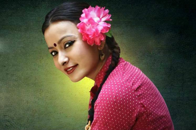 Popular actor Namrata Shrestha in Newari dress.