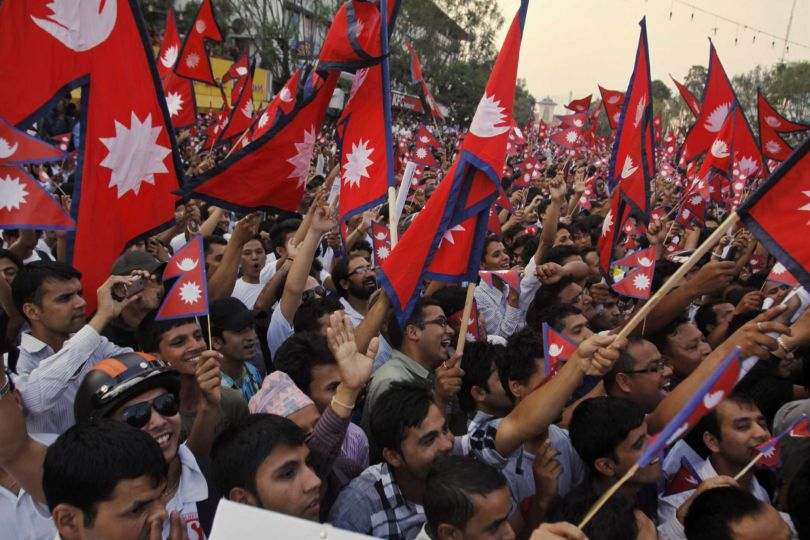 The Flag That Unites Whole Nepal. Image Binod Joshi, AP