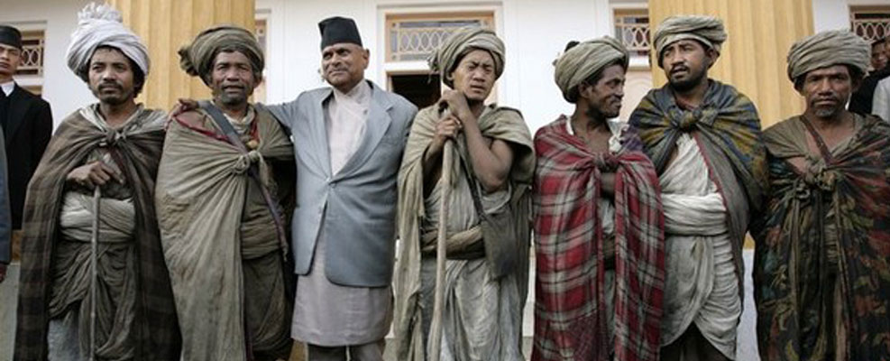 Raute, a nomadic ethnic group with President of Nepal.