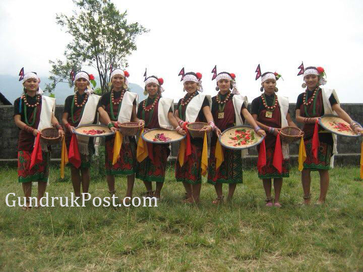 With her cultural dance group in Kaski
