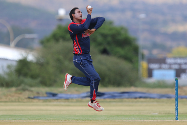 Captain Paras Khadka Who Leads From The Front. Image ICC