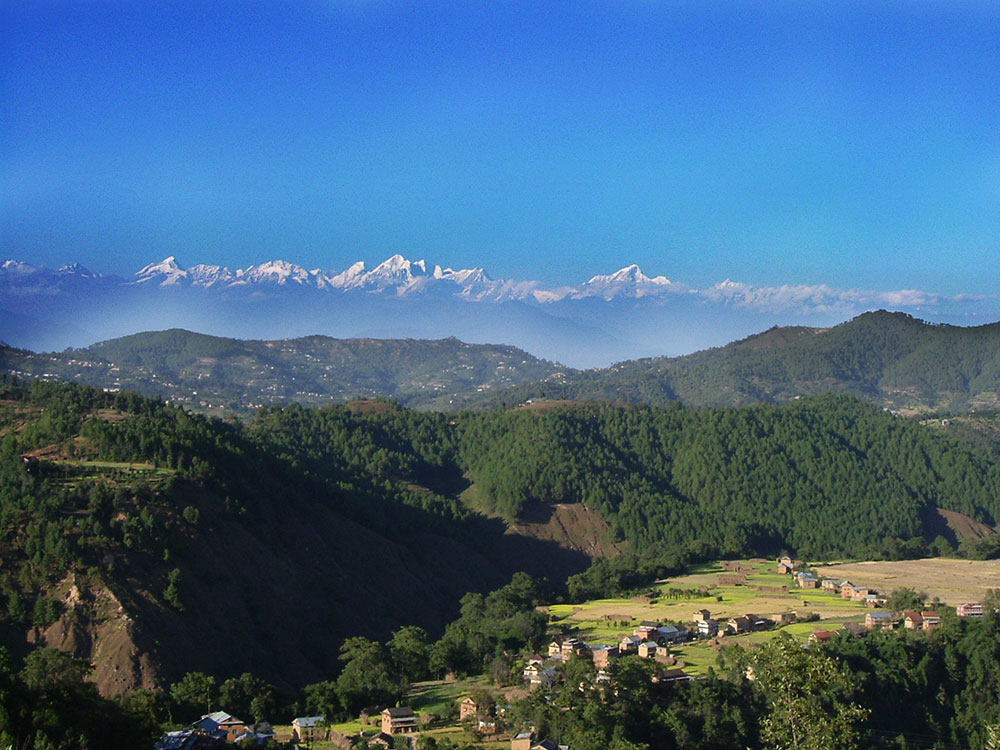 Spectacular view from Balthali village Kavre (Picture Balthali Resort)