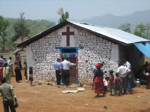 A Typical Church in Countryside Nepal (Pic Courtesy:  ennepal.org)