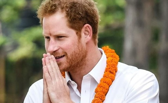 Prince Harry in Nepal (Image Courtesy: The Telegraph)