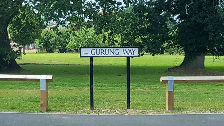 Gurung Way is in Hampshire, around 45 miles from London (Pic: Dinesh Gautam FB)