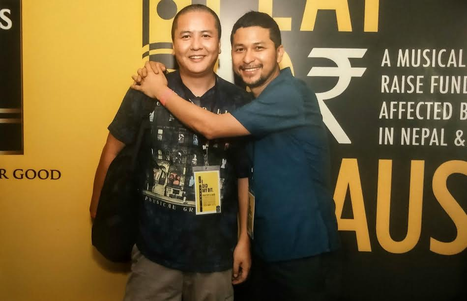 Bipul Chettri and Manager Sonam Tashi (Photo source: Sonam Tashi)