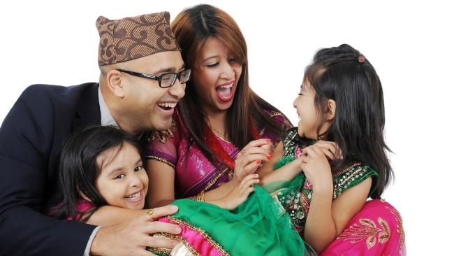 A happy Nepali family in Australia (Photo Sudhira Shah)