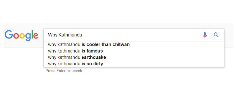 We definitely need answer not from google but from ourselves why Kathmandu is so dirty :(