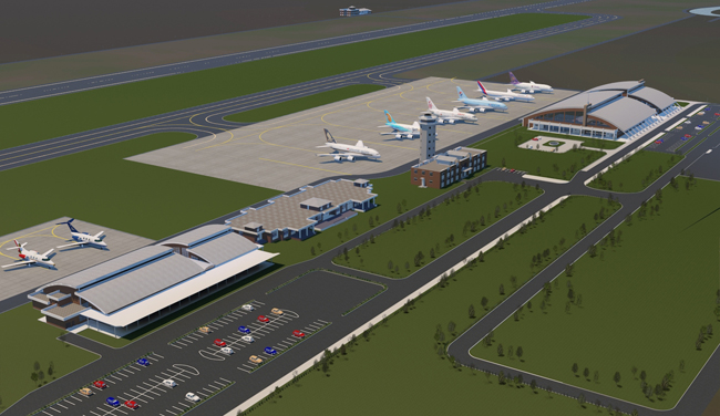 Nepal's second international airport in Lumbini. (Photi onlinekhabar)