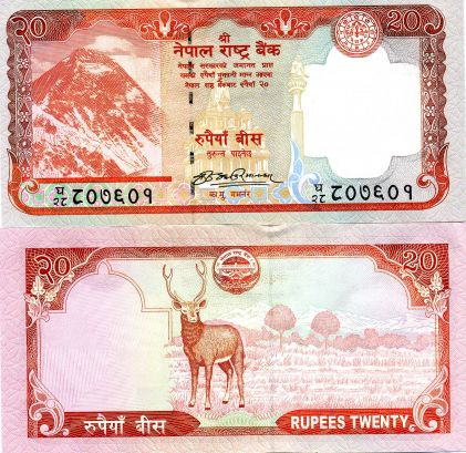 Rupees 20 Note