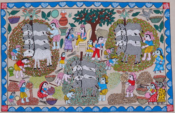 Madhubani painting (Photo The Kathmandu Post)