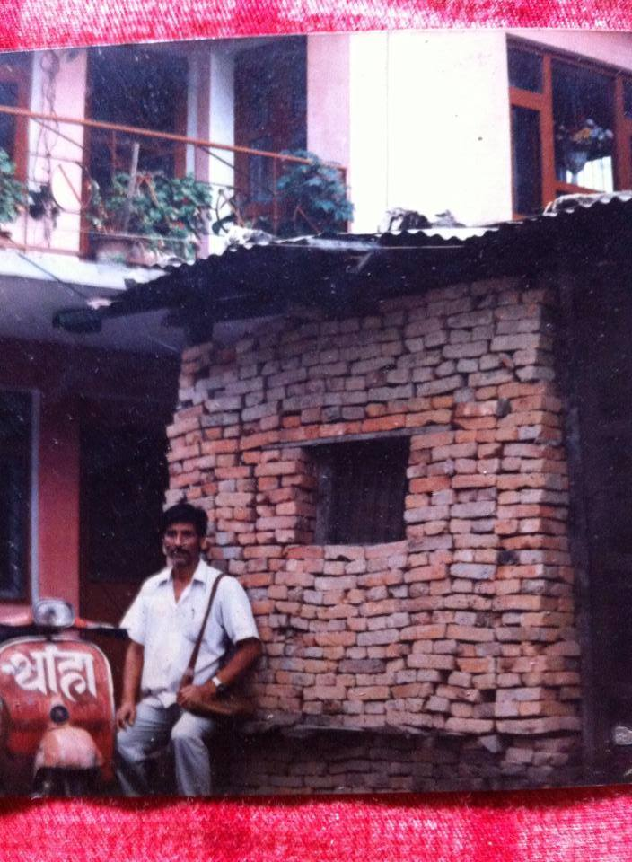 Rup Chandra Bista in his young age in Kathandu Kalimati near Soaltee Mode. He spent his some years in this hut