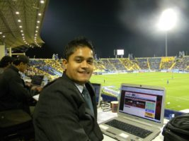 Bikram Thapa has been to more than 14 countries to cover Nepali football. Bravo!
