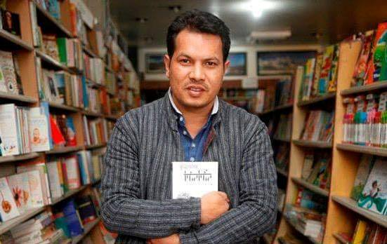 Buddhisagar with his second novel 'Phirphire' (Photo: Buddhisagar Facebook page)
